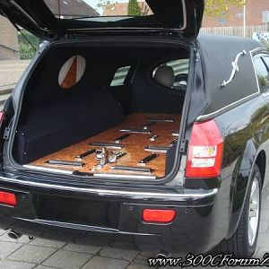 300C hearse - tailgate view